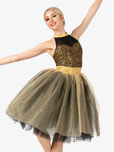 Womens Performance Two-Tone Romantic Tutu Dress - Style No EL259