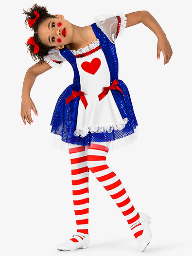 Girls Ragdoll 3-Piece Character Costume Dress Set - Style No EL268C