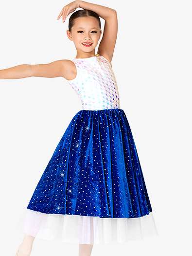 Girls Tank Sequin Ballet Tutu Dress - Style No EL304C