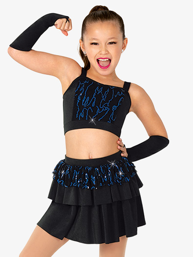 Girls Performance Lace and Sequin Set - Style No EL443C