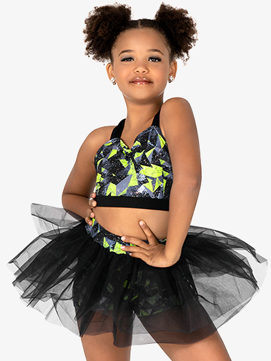 Girls 2-Piece Tutu Performance Set - Style No EL448C