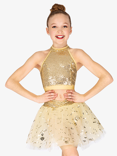 Girls Two-Piece Halter Costume Set - Style No EL452C