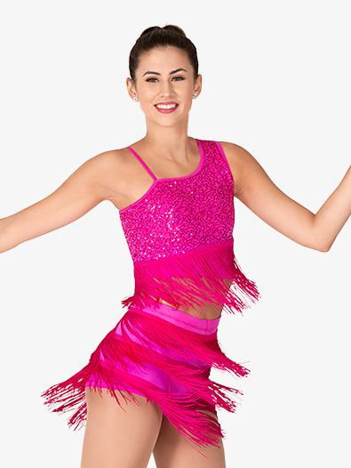 Womens Performance Sequin and Fringe Set - Style No EL483