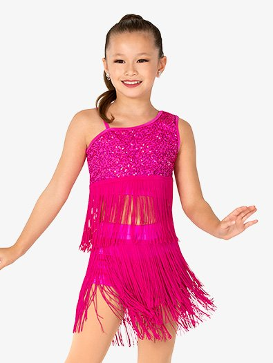 Girls Performance Sequin and Fringe Set - Style No EL483C