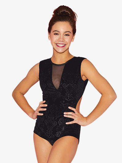 Womens Embossed Velvet Tank Leotard - Style No EL8899