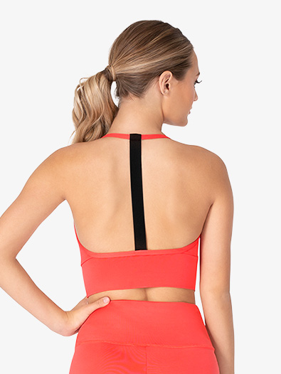 Womens Elastic Strap Camisole Workout Bra Top - Style No ELA56