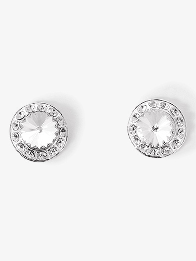 18mm Clear Stone Post Earring - Style No EP12AS