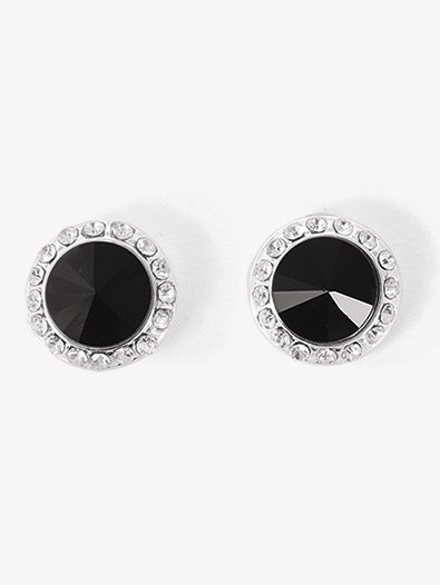 10mm Post Black Stone Earrings - Style No EP8ABL