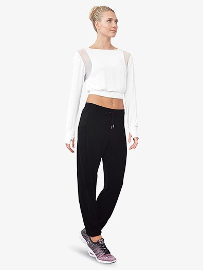 Womens Mesh Panel Pull-On Dance Sweatpants - Style No FP5155