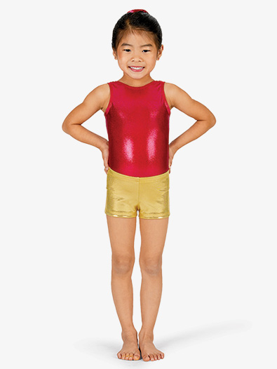 Child Basic Metallic Dance Shorts - Style No G502C