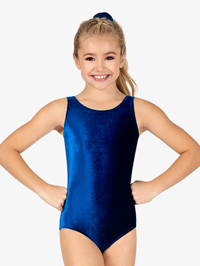 Girls Velvet Tank Leotard - Style No GB113C
