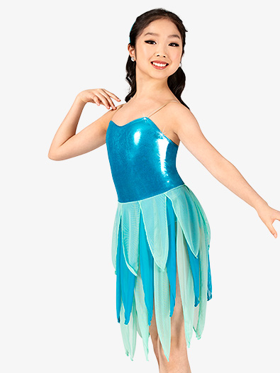 Girls Metallic Two-Tone Camisole Pixie Character Costume Set - Style No GRA131C
