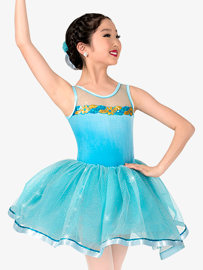 Girls Glitter Mesh Costume Tutu Dress - Style No GRA133C