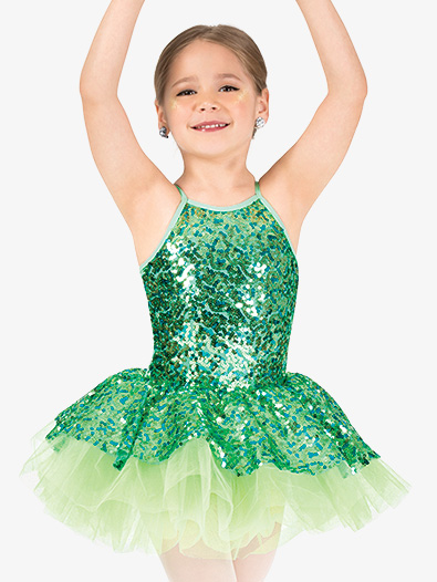 Girls Performance Sequin Camisole Tutu Dress - Style No GRA143C