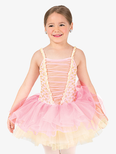 Girls Performance Corset Camisole Tutu Dress - Style No GRA147C