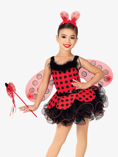 Girls Performance Lady Bug Ballet Tutu Dress - Style No GRA178C