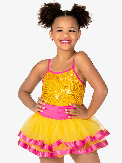 Girls Camisole Sequin Tutu Dress - Style No GRA181C
