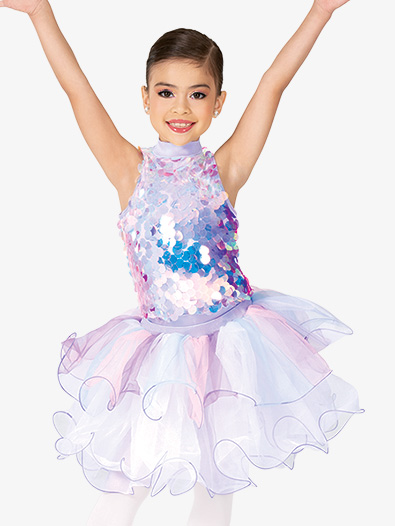 Girls Performance Sequin Tank Leotard and Tutu Set - Style No GRA185C