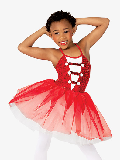 Girls Performance Majorette Camisole Tutu Dress - Style No GRA190C