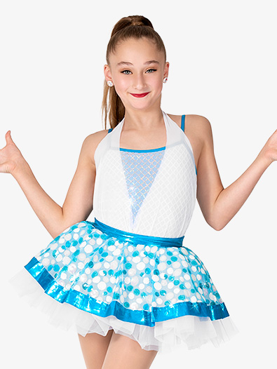 Girls Halter Sequin Tutu Dress - Style No GRA217C
