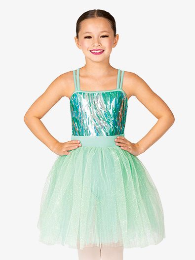 Girls Double Strap Camisole Ballet Dress - Style No GRA218C