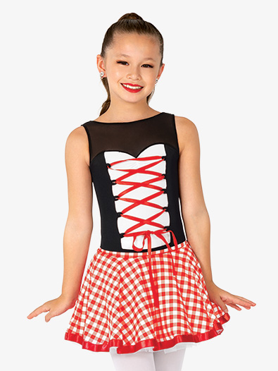 Girls Performance Little Red Tank Leotard - Style No GRA224C