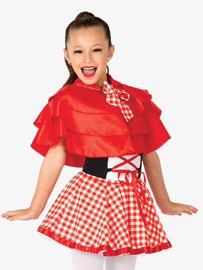 Girls Performance Little Red Cape - Style No GRA226C