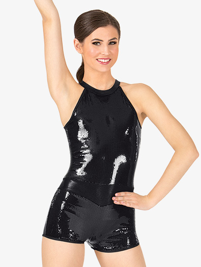 Adult Sequin Tank Shorty Unitard - Style No ING111x