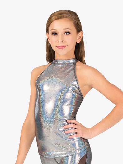 Girls Iridescent Performance Halter Top - Style No ING128C