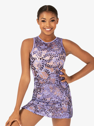 Womens Performance Sequin Lace Tank Dress - Style No ING207
