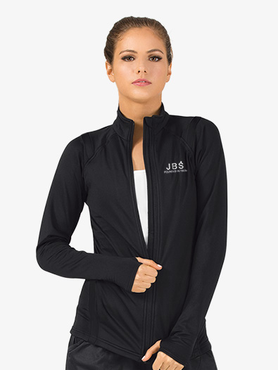 Womens Zip-Up Long Sleeve Dance Jacket - Style No JB106