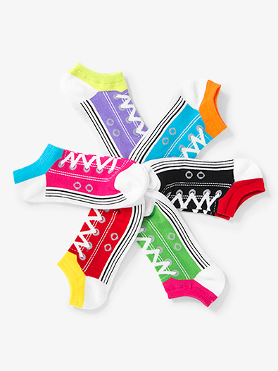 Womens Sneaker No Show Dance Socks - Style No KBWS15C044