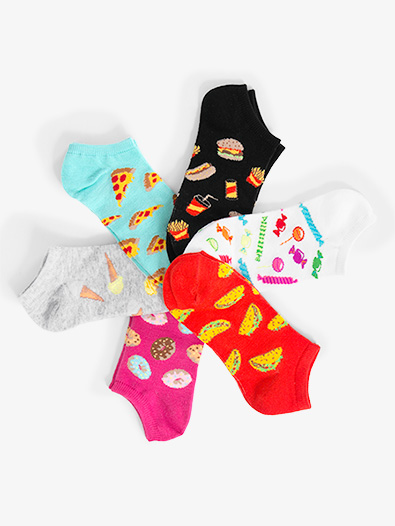 Womens Junk Food No Show Dance Socks - Style No KBWS17C040