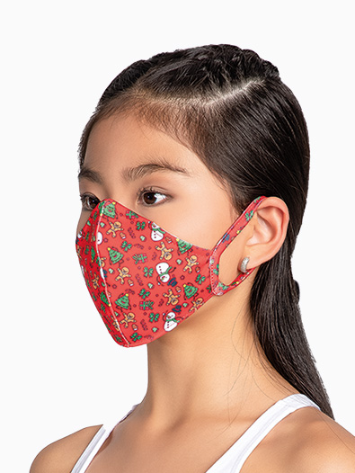 Child Holiday Face Mask with Ear Loops - Style No L2301