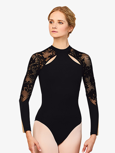 Zip Back Long Sleeve Leotard - Style No L7839x