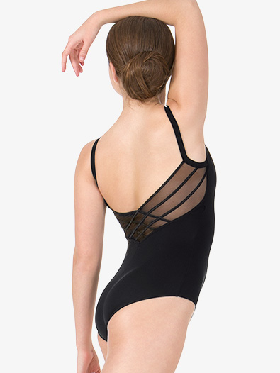 Womens Crisscross Mesh Back Camisole Leotard - Style No L8820