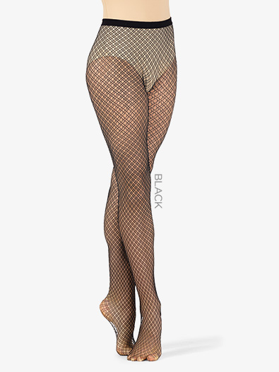Womens Dual Plaid Fishnet Dance Tights - Style No LA9978