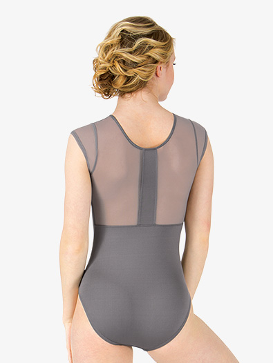 Womens Mesh Back Short Sleeve Leotard - Style No M2759
