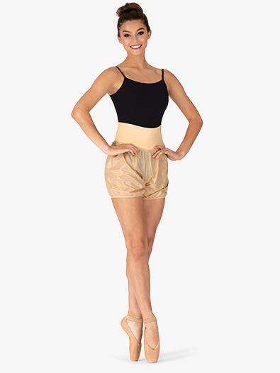 Womens Roll-Over Ripstop Dance Shorts - Style No M6042L