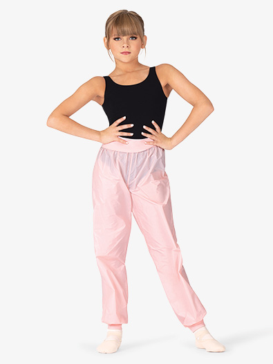 Girls Roll-Over Ripstop Dance Pants - Style No M677C