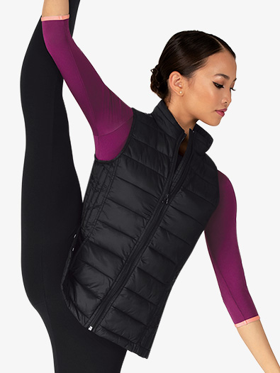 Womens Sleeveless Puffy Warm-Up Vest - Style No ME628
