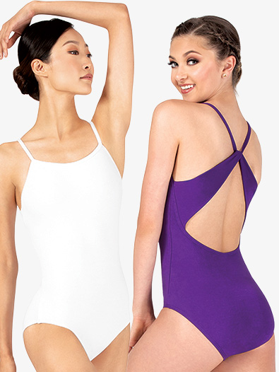 Womens Sueded Cotton X-Back Camisole Leotard - Style No MM101