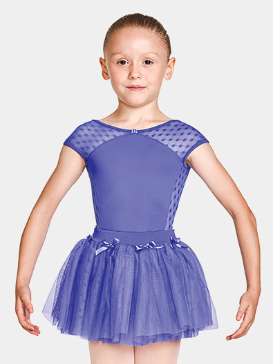 Girls Bow Waist Pull-On Ballet Skirt - Style No MS139C