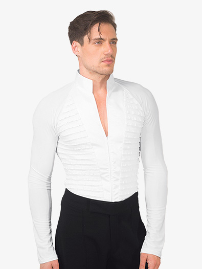 Mens Mandarin Collar Ballroom Top - Style No MS28