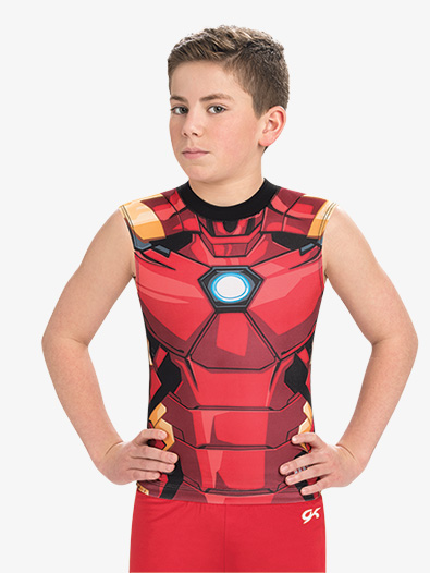 Boys/Mens Marvel Mighty Iron Man Compression Shirt - Style No MV033C