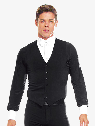Mens Snap Closure Ballroom Vest - Style No MV1