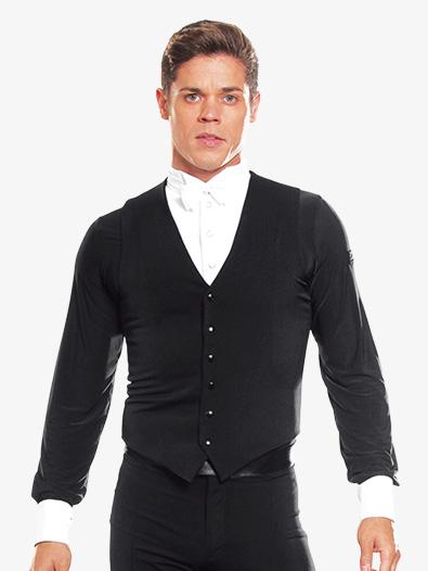 Mens Snap Closure Ballroom Vest - Style No MV1