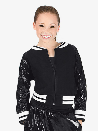 Girls Sequin Varsity Jacket - Style No N7218C