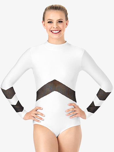 Womens Mesh Long Sleeve Leotard - Style No N7228x