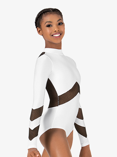 Girls Mesh Long Sleeve Leotard - Style No N7228Cx